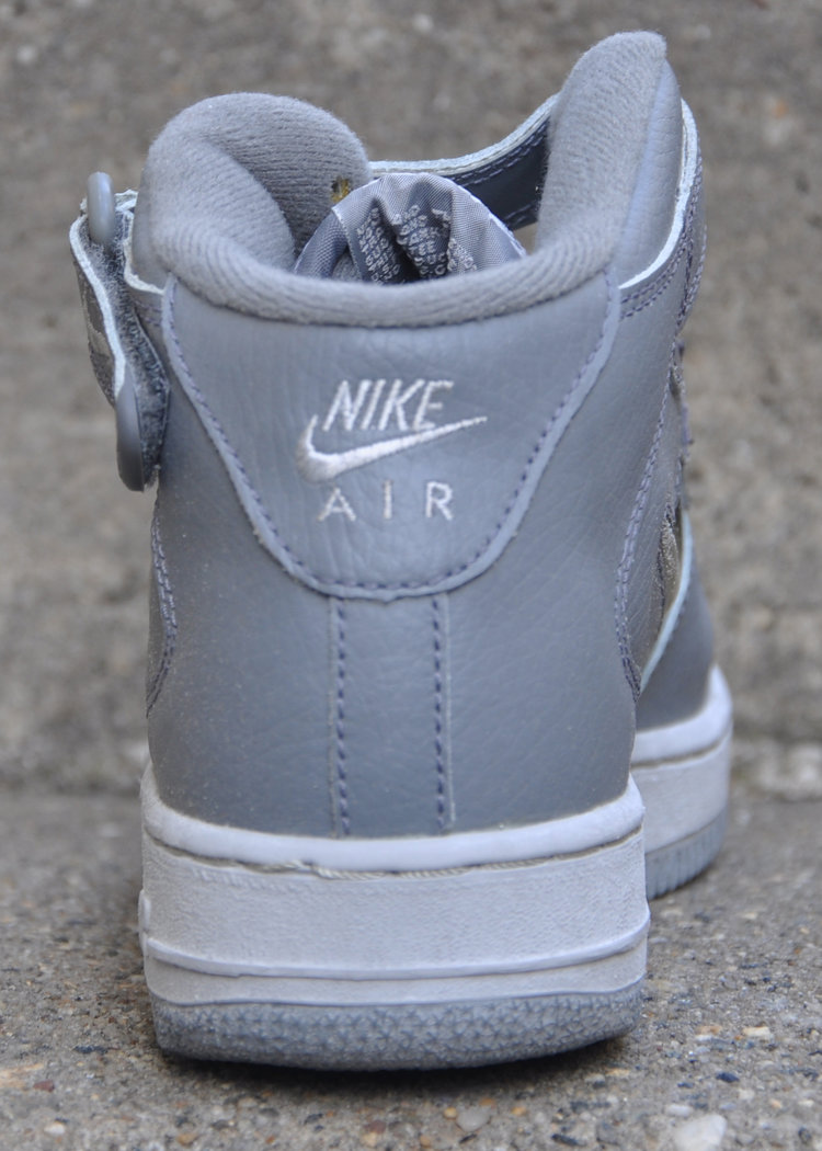 Kids Nike Air Force 1 Mid Jewel Cool Grey (Size 6) DS — Roots
